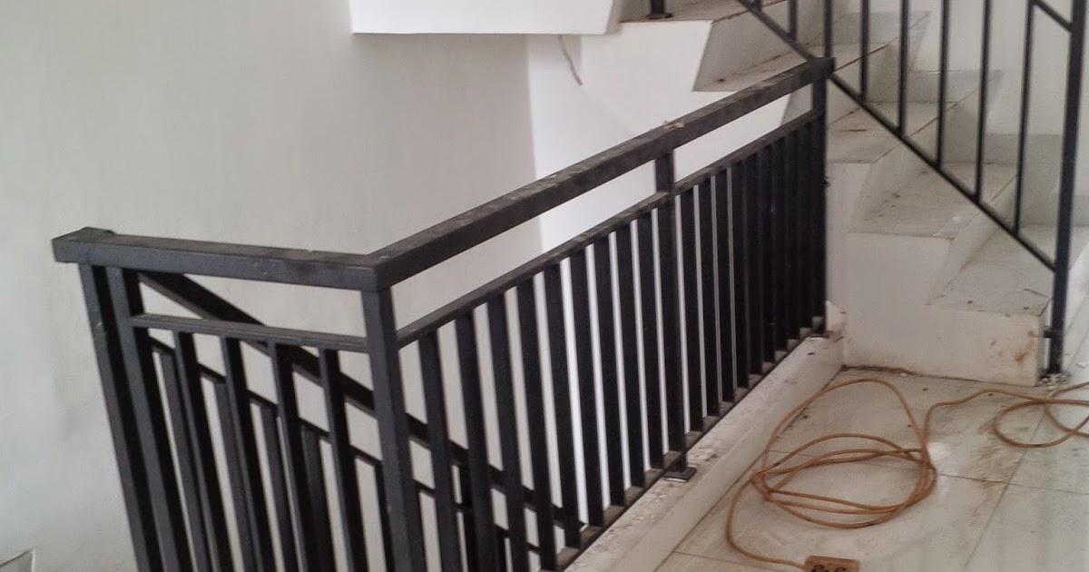 pagar tangga minimalis Bengkel las dan Canopy minimalis