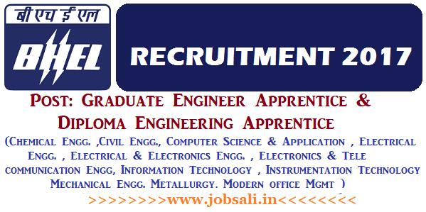 BHEL Careers, BHEL Apprentice Vacancy, BHEL Jobs for Freshers