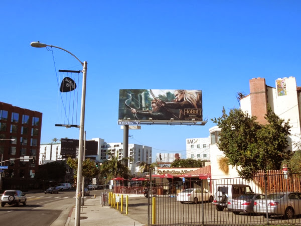 Hobbit Desolation of Smaug film billboard