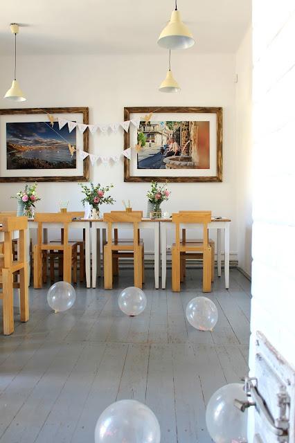balony, dekoracje, impreza, chrzciny, wystrój, restauracja włoska