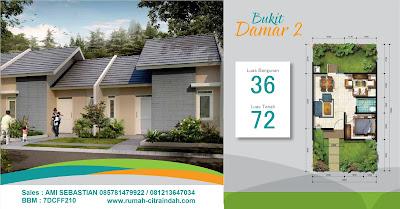 Model Rumah dan Denah DAMAR 2, 36/72 Citra Indah City