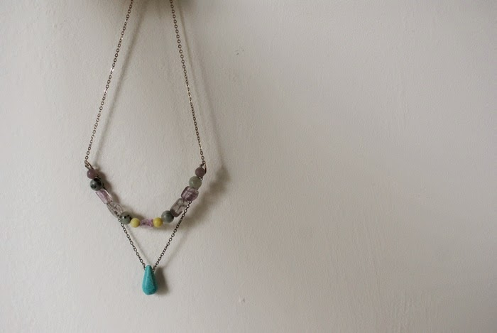 necklace turquoise fluorite bohemian jewelry