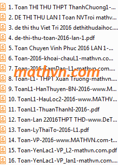 16 de thi thu mon toan nam 2016 co dap an