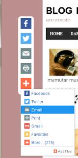 cara membuat tombol share di blog secara melayang di bagian pinggir, di kiri atau di kanan