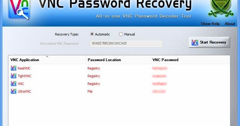 VNC Password Recovery v2 0] All-in-one VNC Password Decoder