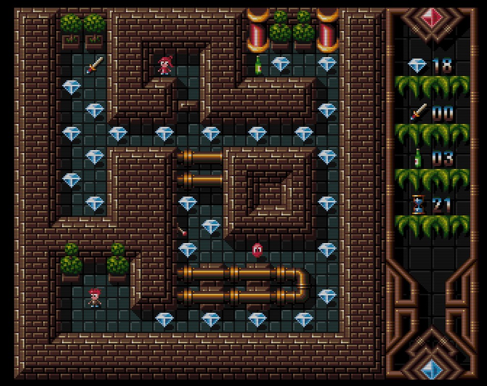 Indie Retro News: Worthy - Fabulous Amiga OCS action/puzzler