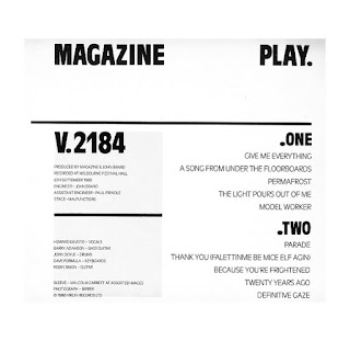 Play, Magazine, Rear Sleeve