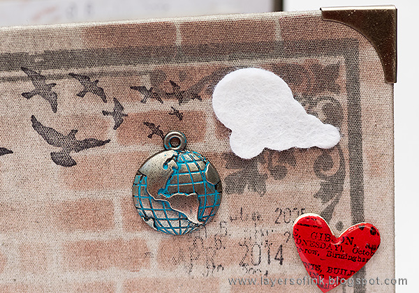 Layers of ink - Home Sweet Home Mini Book by Anna-Karin with Tim Holtz Sizzix Cityscape dies.