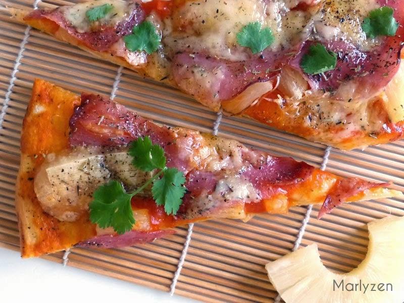 Pizza Ananas - Bacon - Comté.