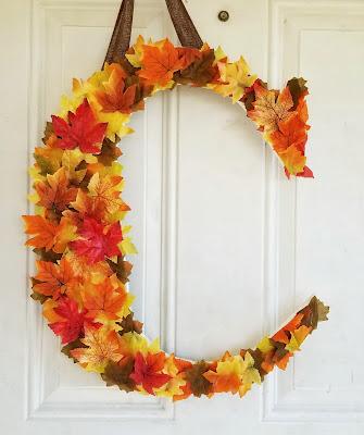 refabulous autumn leaf monogram DIY, sqt, quick and easy tutorial