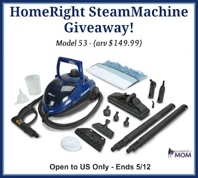 Enter the HomeRight SteamMachine Giveaway Ends 5/12
