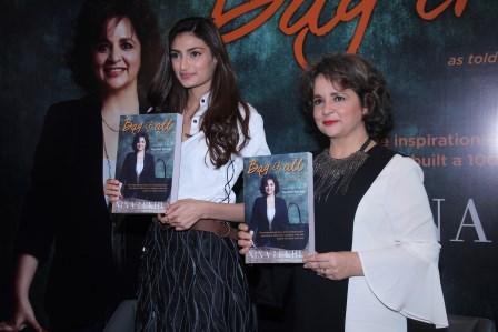 Athiya Shetty launches Nina Lekhi's biography 'Bag It All'