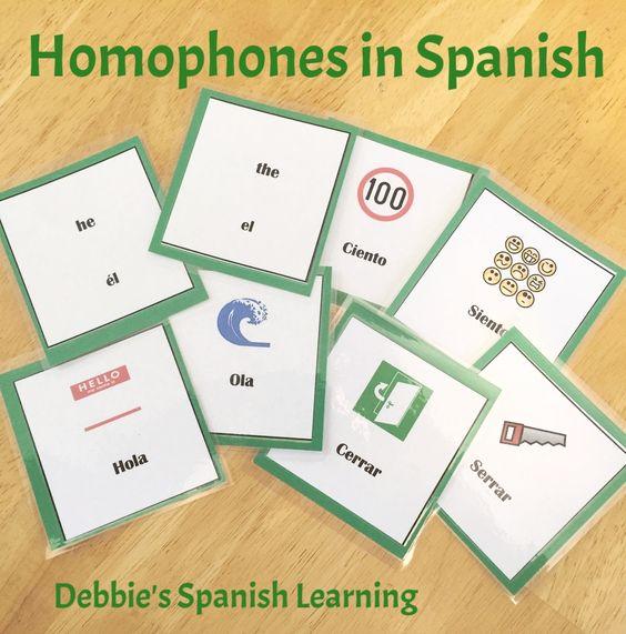debbie 39 s spanish learning teaching homophones in spanish. Black Bedroom Furniture Sets. Home Design Ideas