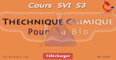 Cours Technique chimique pour la biologie S3 PDF | SVI