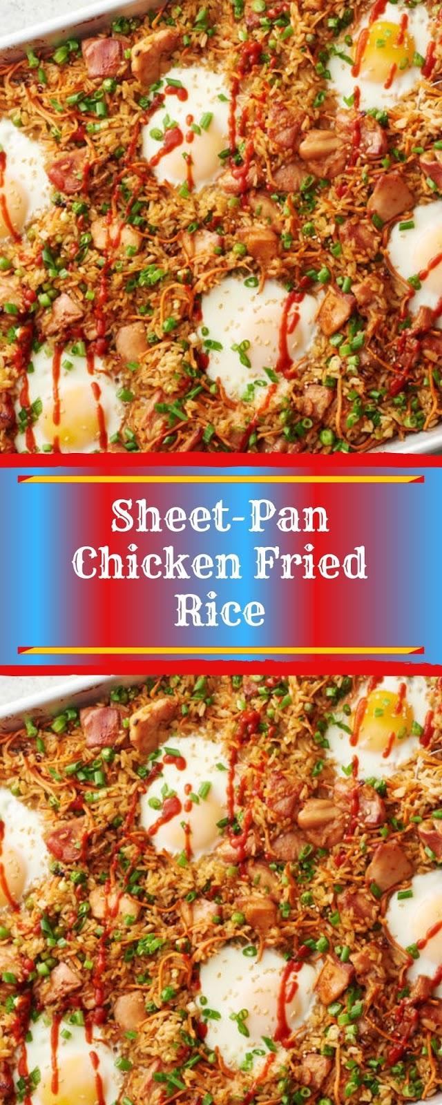 Sheet-Pan Chicken Fried Rice
