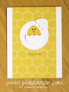 VIDEO: Stampin' Up! Balloon Bouquet Punch Art Easter Egg & Chick Card ~ www.juliedavison.com