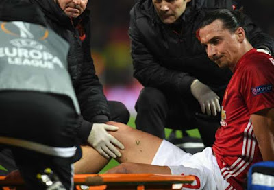 BREAKING!!! Zlatan Ibrahimovic Ruled Out For The Season With Knee Injury… End Of Manchester United Career?