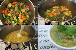 foto preparazione minestra estiva per bambini
