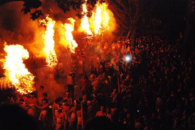 Devil Night Festival at Daizenji Temple Tamatareguu, Kurume City, Fukuoka