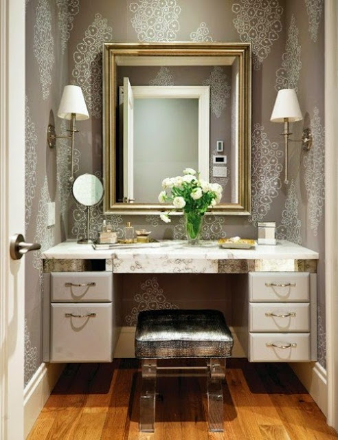 luxury dressing table lighting ideas, mirror lights