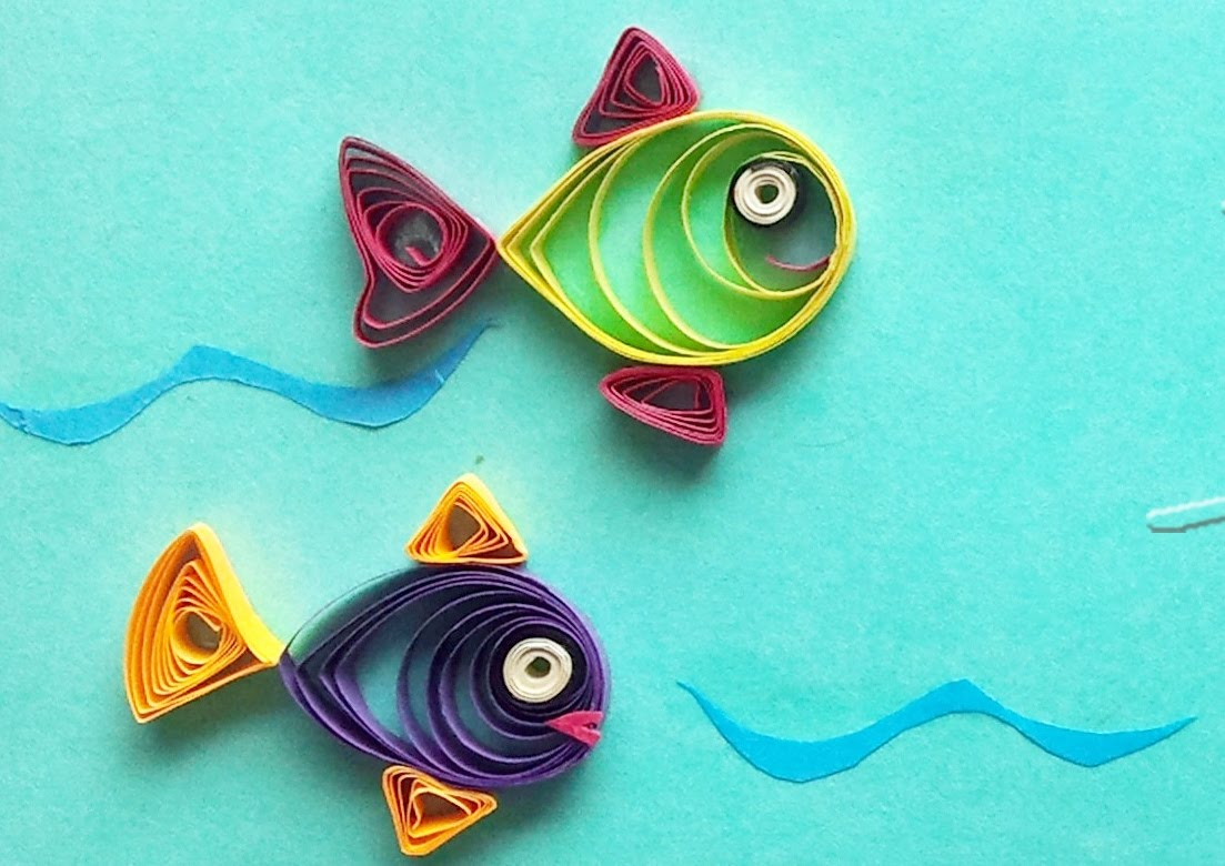 Easy quilling arts and crafts to make for Quilling craft ideas