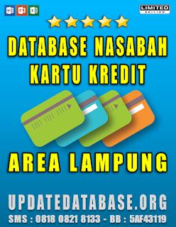 Jual Database Nasabah Kartu Kredit Lampung