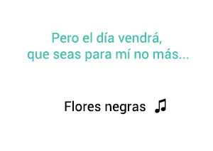 Vicente Fernández Chente Flores Negras significado de la canción.