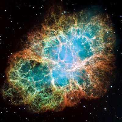 Tinh vân con cua (Crab Nebula) tạo thành từ vụ nổ siêu tân tinh 1054 đã xảy ra vào tháng 7 năm1954