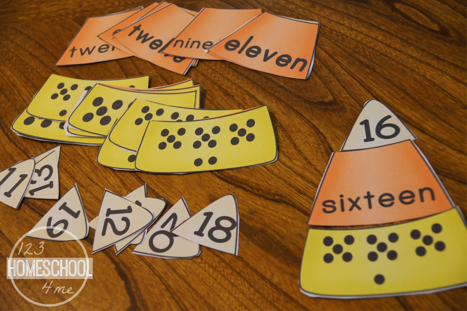 Free Candy Corn Number Puzzles