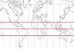 Mapa de los paralelos de la Tierra