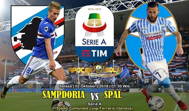 Prediksi Sampdoria Vs SPAL 2 Oktober 2018