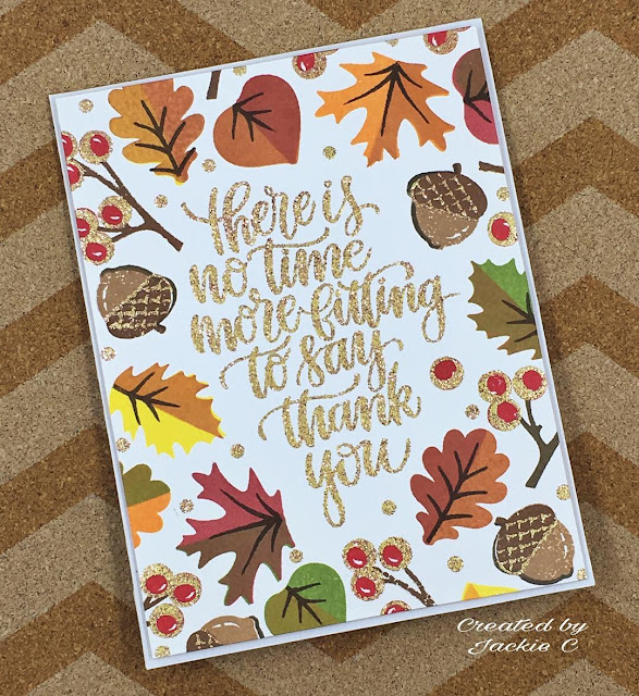 Sunny Studio Stamps: Autumn Splendor Fall Leaves Card by Jackie C.