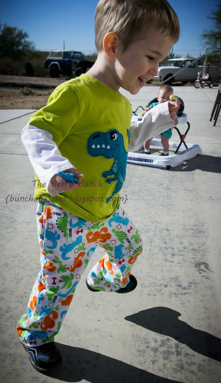 The Berry Bunch: Shwin Designs: Number 9 Trousers: Cargo and Removable Dinosaur Lining {Flip This Pattern}