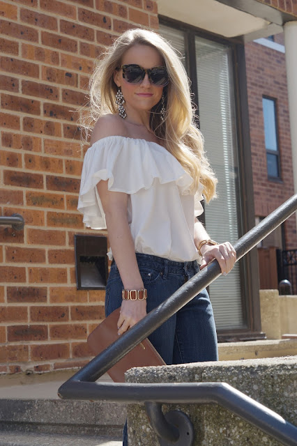 Casual off-the-shoulder top