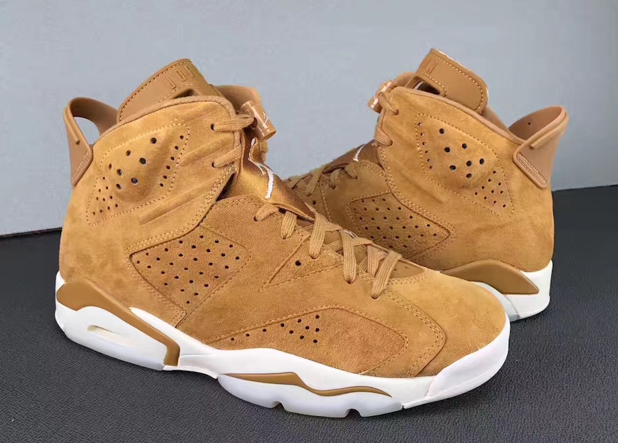 free shipping 78ba3 7ec89 Built in a workoot style, this upcoming Air Jordan 6 comes dressed in a mix  of Golden Harvest and Sail making them perfect for the Fall season.