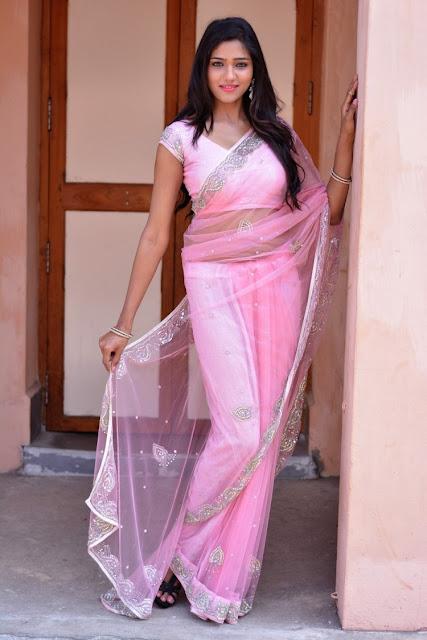 Shalu Chourasiya in Pink Embroidery Saree