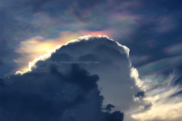 Fire rainbow di atas Tasikmalaya
