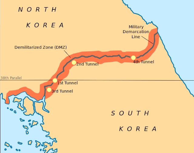 Zona Desmilitarizada da Coreia em Grafico