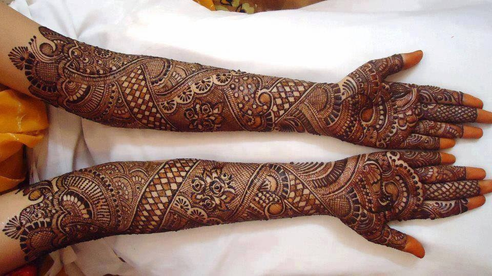 Traditional Mehndi Designs Photos : Stylish bridal mehndi designs for full hands front and back