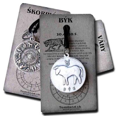 Prívesok zobrazujúci znamenie Býk.