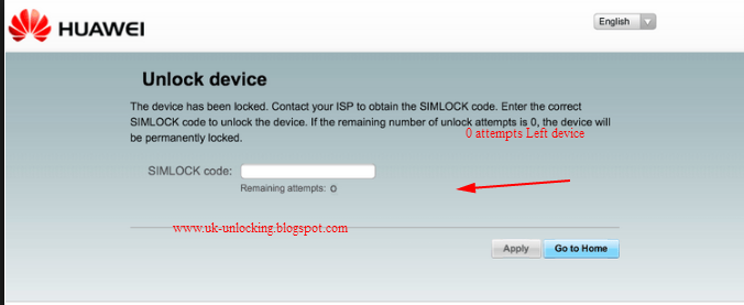 How to Unlock 0 attempts Left Huawei E5330 ( E5330bs-2