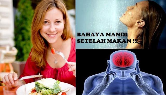 diet sehat sehari hari - INGAT! Setelah Makan jangan langsung Mandi! Kamu Harus Tau Bahayanya berikut ini Penjelasannya