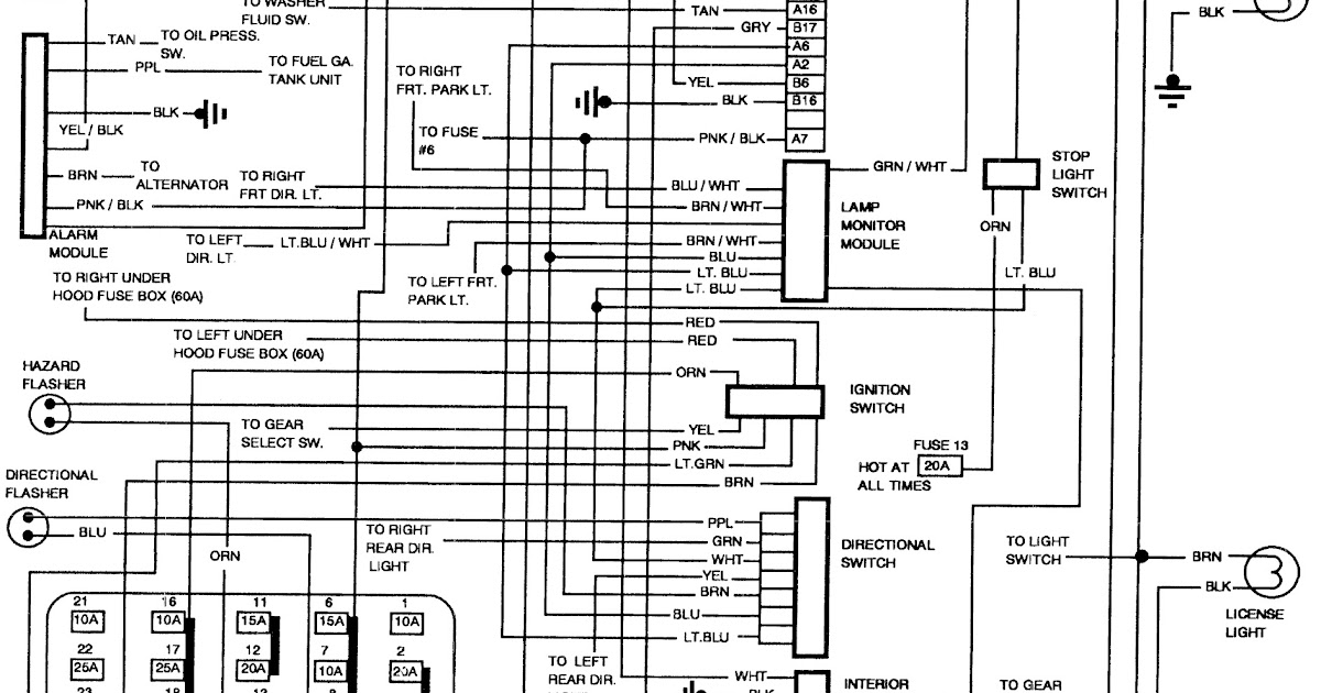 1994 Pontiac Grand Prix Fuse Box Diagram : 40 Wiring