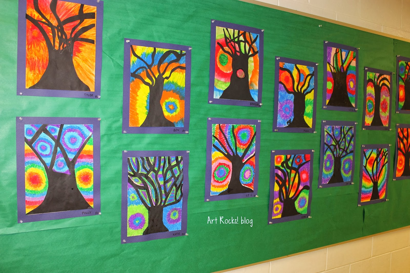 Art Rocks Grade 5 Silhouette Trees