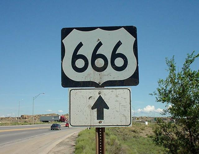 Ruta 666 poco antes de cambiar su nombre