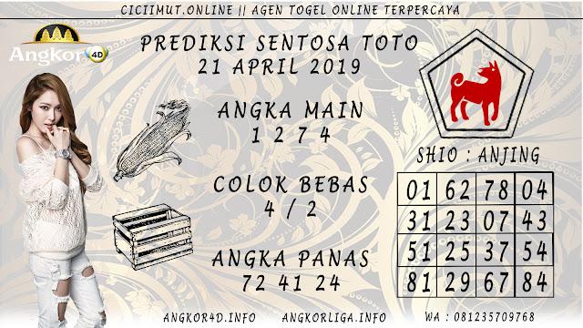 Prediksi Angka Jitu SENTOSA TOTO 21 APRIL 2019