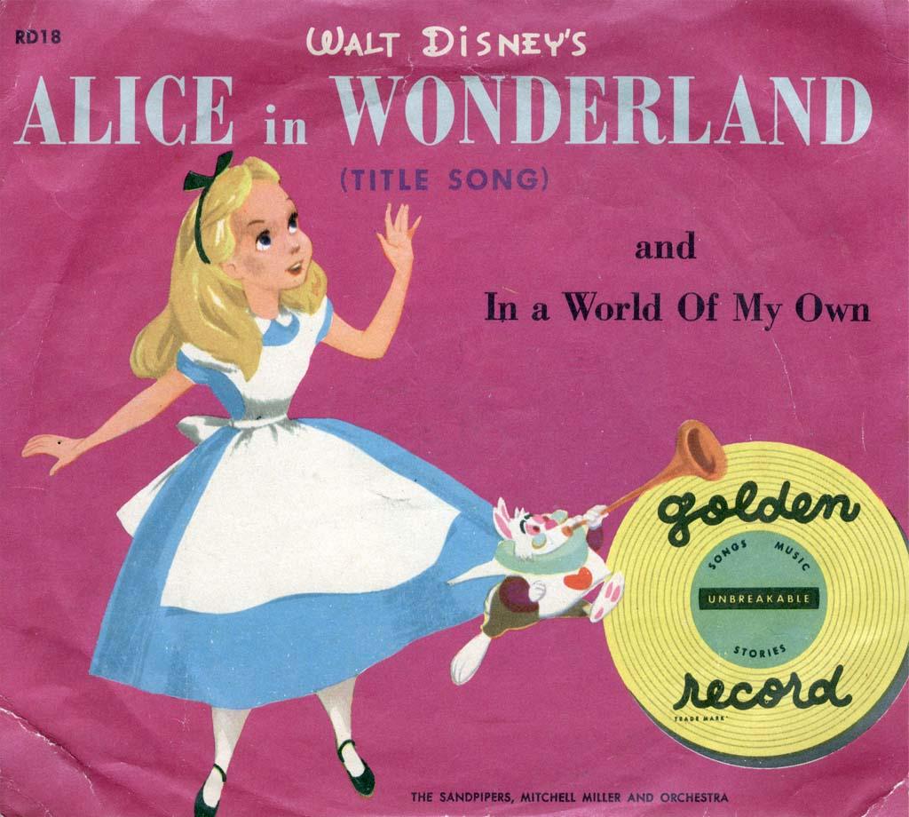 Disney Alice In Wonderland Quote: Vintage Disney Alice In Wonderland: Little Golden Records