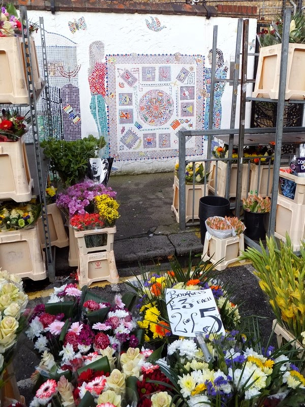 Londres London East End Shoreditch flower market marché fleurs colombia road