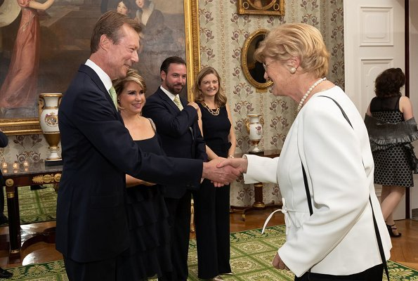 Grand Duke Henri, Grand Duchess Maria Teresa, Hereditary Grand Duke Guillaume and Hereditary Grand Duchess Stéphanie attended the dinner
