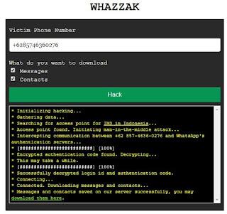 Cara Sadap WhatsApp Dengan Whozzak